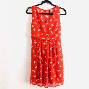 modcloth peppermint Open Back Cat Print Dress